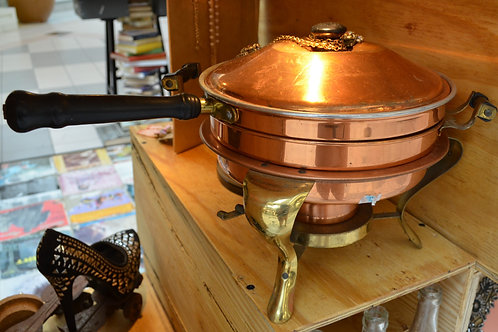 Vintage Copper Frying Pan