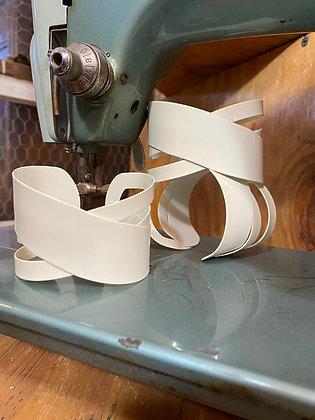 white cuff bracelets