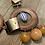 wood and glass bead earrings