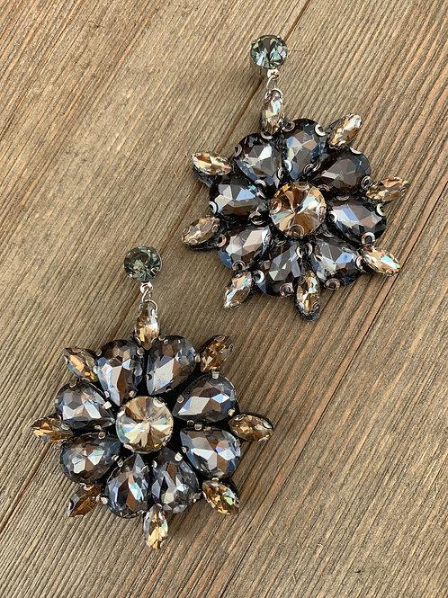 gun metal earrings