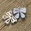gold bow earrings