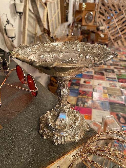Silver Pedestal Candy Dish