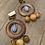 wooden hoop earrings
