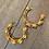 flower and pearl hoop earrings