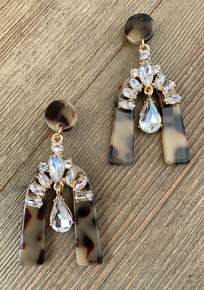acrylic tortoise earrings