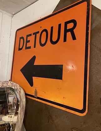 large detour sign