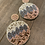 pink bead circle earrings