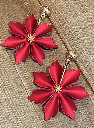 Matte Red Poinsettia Drops