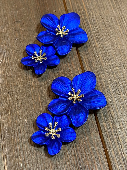 electric blue earrings