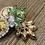 jeweled pineapple earrings