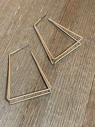 rectangle hoop earrings