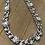 Silver chain and diamonds