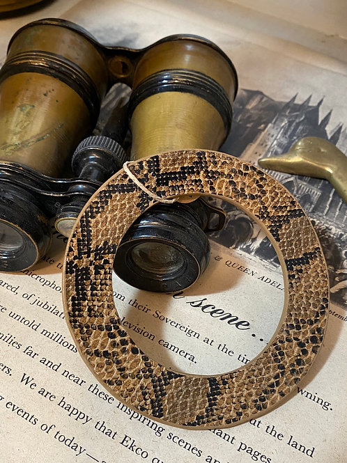 brown snake skin bracelet