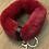 red fur key chain