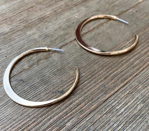 classy gold hoop earrings