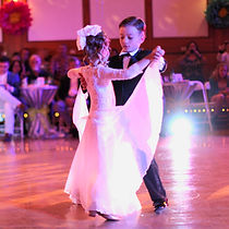 our little stars dancing slow waltz at OC Dancing's showcase
