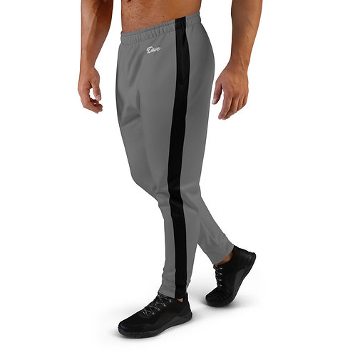 Dave Grey with Black Stripe Mens Joggers