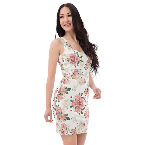 Dave Floral Print Fitted Dress