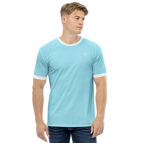 Dave Baby Blue Mens Ringer T-Shirt