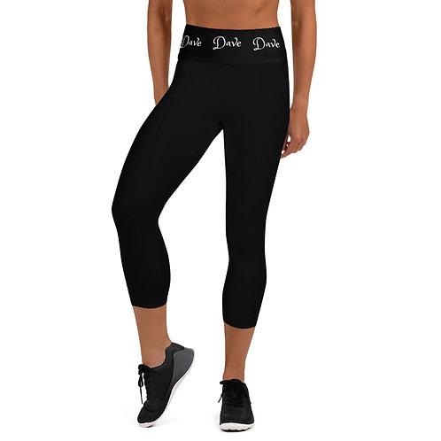 Daves Gym Black Dave Waistband Womens Leggings