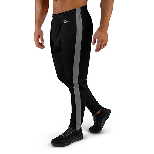 Dave Black with Grey Stripe Mens Joggers