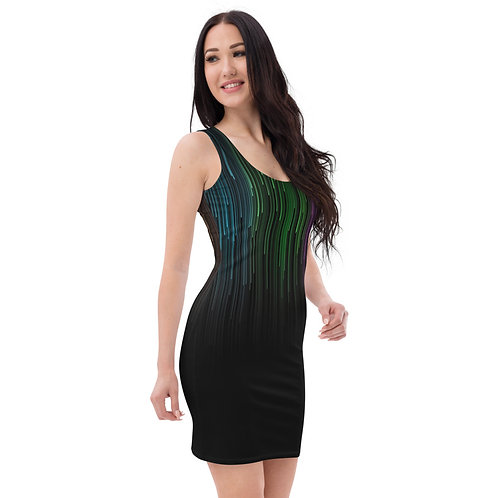 Dave Coloured Matrix Fitted Dress