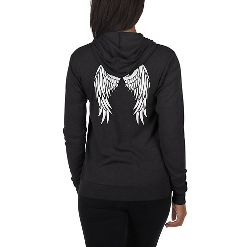 Dave x Gifted Girl White wings zipped hoodie