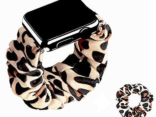 Elastic Scrunchie Apple Watch Band - Leopard