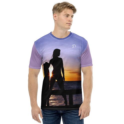 Dave Sunset Surf Mens T-Shirt