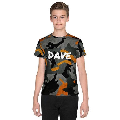 Daves Orange Camo Kids T-Shirt