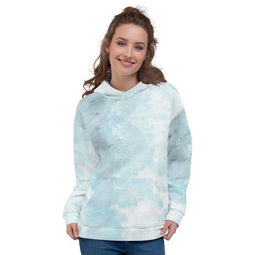 Dave Turquoise Paint Unisex Surfer Hoodie