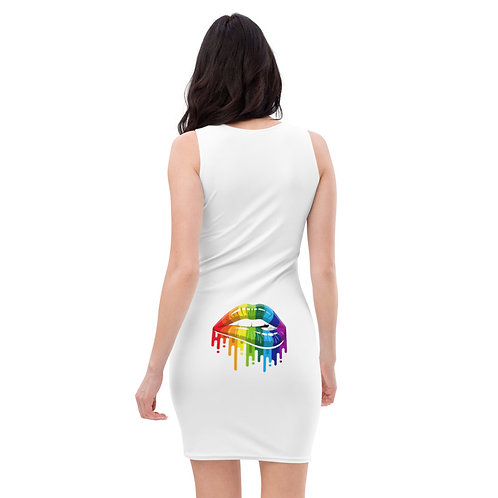 Dave Pride Lip Biting Fitted Dress