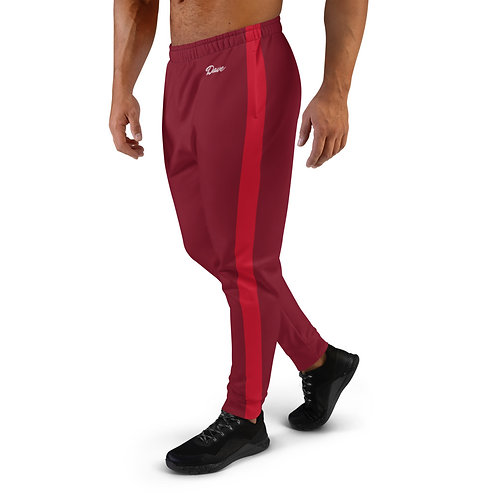 Dave Burgundy with Red Stripe Mens Joggers