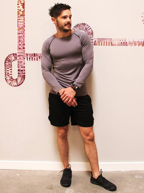 Robbins Long Sleeved Men's Tshirt - Grey