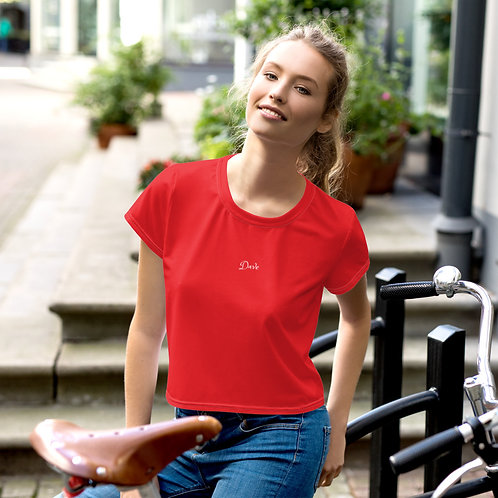 Dave Red Womens Crop Tee