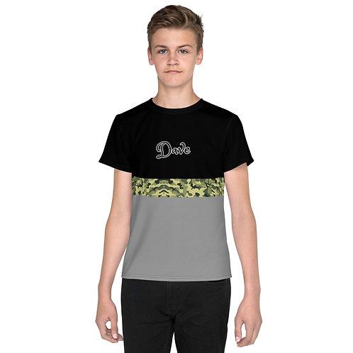 Dave Camo Stripe Kids T-Shirt