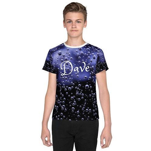 Dave Blue Bubbles Kids T-Shirt