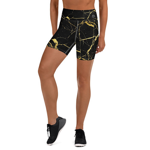 Daves Gym Womens Black Marble Training Shorts
