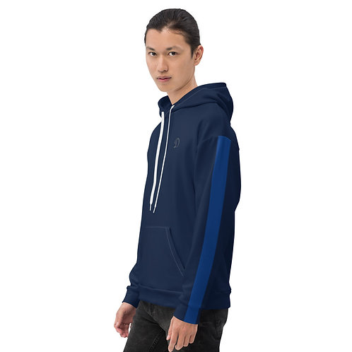 Dave Navy with Blue Stripe Mens Hoodie