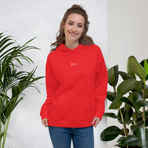 Dave Red Womens Hoodie