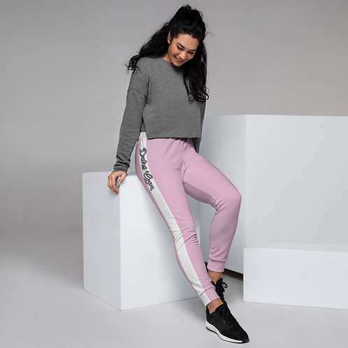Daves Gym Pastel Purple With White Stripe Womens Joggers