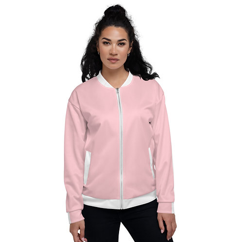 Dave Pink Womens Bomber Jacket