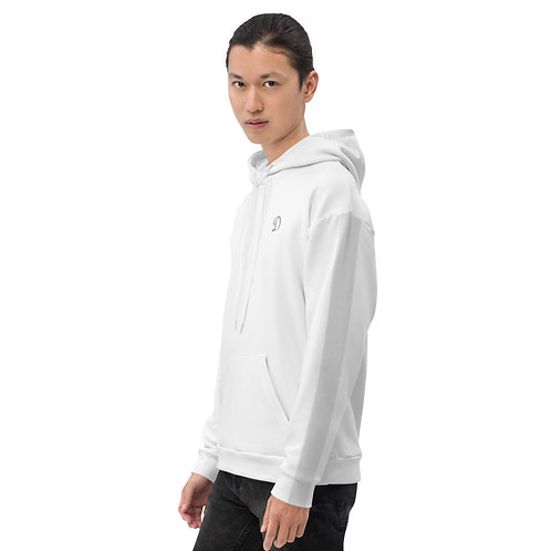 Dave White with Silver Stripe Mens Hoodie