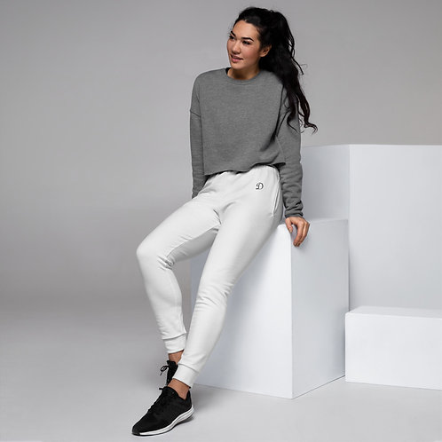 Dave Womens White Joggers