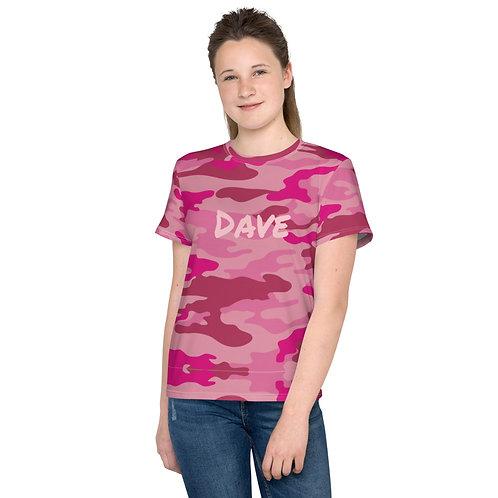 Dave Pink Camo Kids T-Shirt