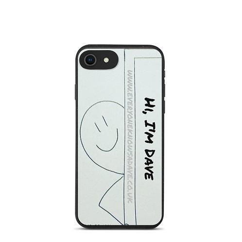 'Hi, I'm Dave' Biodegradable iPhone case