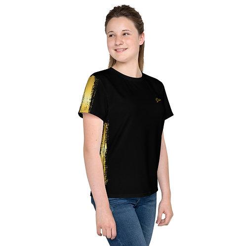 Dave Gold Paint Stroke Kids T-Shirt