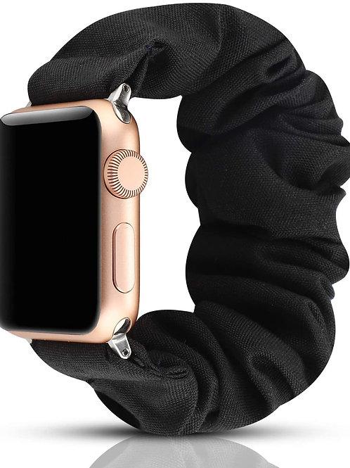 Elastic Scrunchie Apple Watch Band - Black