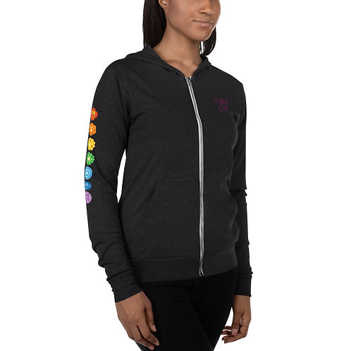 Dave x Gifted Girl 7 Chakra Lightweight Zip Up Hoodie