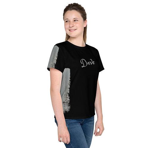 Dave Silver Paint Stroke Kids T-Shirt